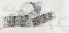 Progetto di Complesso residenziale e commerciale, Leipzigerplatz, Berlin, 1995 »