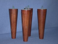 """Mid-Century style furniture legs to upgrade Ikea furniture – 8"""" Round, Full Taper ― Uncle Bob's Workshop"""