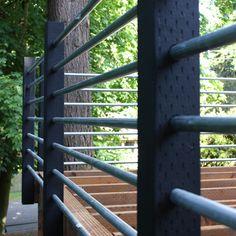 galvanized steel pole railings
