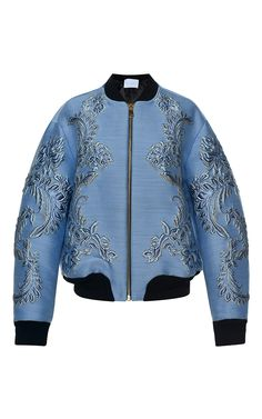 Baroque Jacquard Bomber Jacket by FRANCESCO SCOGNAMIGLIO for Preorder on Moda Operandi