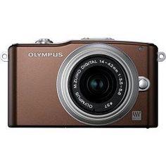 Olympus PEN E-PM1 12.3MP Interchangeable Lens Camera with CMOS Sensor, 3-inch LCD and 14-42mm II Lens (Brown) - http://www.digitalcameraoptics.com/olympus-pen-e-pm1-12-3mp-interchangeable-lens-camera-with-cmos-sensor-3-inch-lcd-and-14-42mm-ii-lens-brown/