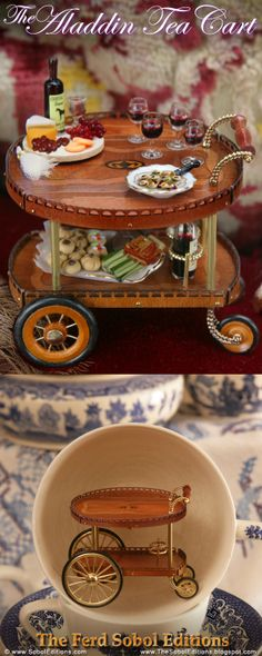 The Aladdin Tea Cart was created by The Ferd Sobol Editions to honor the international gesture of offering a warm cup of tea to a friend or stranger as a gesture of global hospitality. It also shares a bit of fantasy and wish fulfillment. See more: http://thesoboleditions.blogspot.com/2013/03/the-aladdin-tea-cart.html