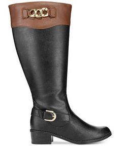 Karen Scott Darlaa Wide Calf Riding Boots - Boots - Shoes - Macy's