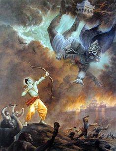 Rama Ravana, King Ravana, Rama Lord, Lord Rama Images, Art Disney, Religion, Krishna Art, Krishna Images, Hare Krishna