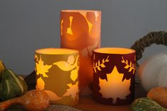 How to Make Fall Candle Wraps by The Country Chic Cottage | Ucreate