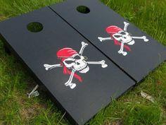 Cornhole Boards -- Skull and Crossbones