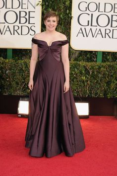 2013 - Lena Dunham in  Zac Posen