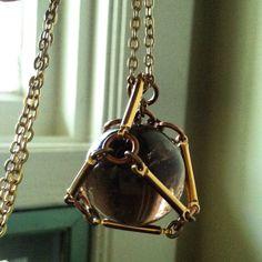 Crystal Ball Necklace Pendant Necklace Quartz by daniellerosebean #smokyquartz #healingcrystal #necklace #boho