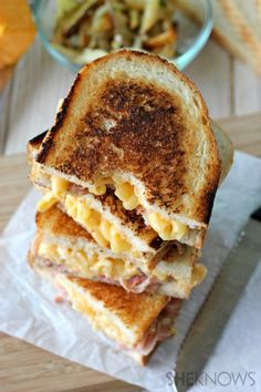Pancetta mac and cheese panini...look familiar anyone!? I only eat this like once a week! Lol