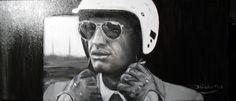 Jean Paul Belmondo, thank you Akrylgemälde 70x30 cm