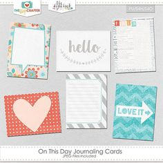 Free On This Day Journal Cards from The Digi Crafter {August 2016 DigiScrap Parade}