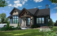 Craftsman ranch home plan, 2-4 bedrooms, low-cost construction, open floor plan, fireplace, charming style (# 3153)   http://www.drummondhouseplans.com/house-plan-detail/info/barrington-modern-rustic-1003228.html