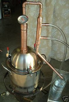 Copper Alcohol Moonshine Ethanol Still E-85 Reflux 3 Prepper Survival Distiller Click photo to view details