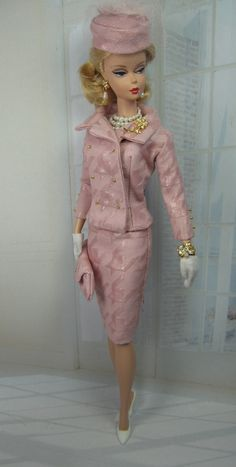 I Believe in Pink for Silkstone Barbie and Victoire Roux on Etsy now - love the little buttons and flair. Barbie looks beautiful.