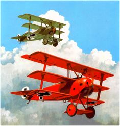 Manfred von Richthofen, by Brian Knight (Fokker Dr. Airplane Drawing, Airplane Art, Air Fighter, Fighter Jets, Fokker Dr1, Manfred Von Richthofen, Military Drawings, Vintage Air, World War One