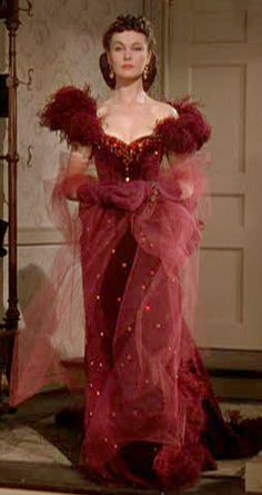 Vivien Leigh as Scarlett O'Hara from Gone with the Wind, 1939.  Film designer Walter Plunkett spent months studying historical socites and private collections for costumes pieces from the civil war period.  This is one of the most beloved from the movie