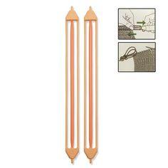 Segurador de Pontos para Tricô Pontos Duplos Médio Clover, Ideal para impedir a abertura dos pontos, em ambos os lados das agulhas. Contém 2 seguradores