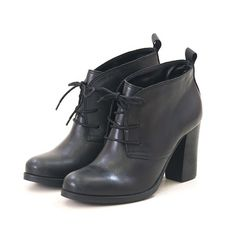 Ankle Boot Black 377 Agatha Salto Preto