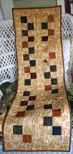 Fall Table Runner/Quilted/Wall Hanging by ShirleyCQuilts on Etsy