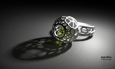 Beautiful new work from Nacho Riesco. The Voronoi Ring, created in ZBrush, rendered in KeyShot.