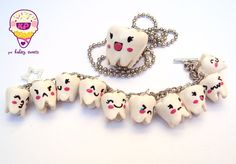 You could make these charms and give one to a child each time they lost a tooth.