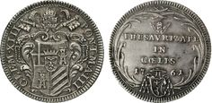 NumisBids: Numismatica Varesi s.a.s. Auction 65, Lot 831 : CLEMENTE XIII (1758-1769) Giulio 1761 A. III, Roma. CNI 39 ...
