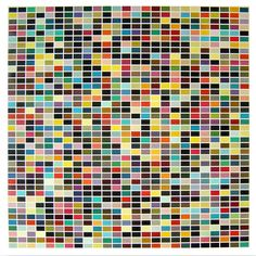 Gerhard Richter: 1025 Farben, colour offset, condition: in good condition,defects at the edges Alberto Giacometti, Marc Chagall, Jean Michel Basquiat, Edgar Degas, Wassily Kandinsky, Pablo Picasso, Leh, Gerhard Richter Painting, Top Paintings