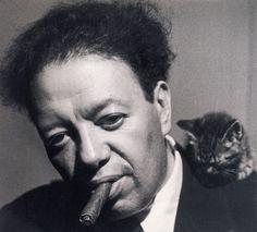 Rivera con gatito. Tina Modotti; c.1929