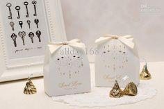 White Bow Style Wedding Box