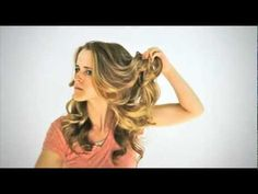 Victoria Secret Curls: Starting with fresh from the shower hair! This chick is awesome!
