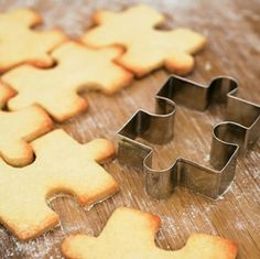 puzzle piece cookie cutter..YES PLEASE!