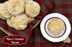 Mommy's Kitchen - Home Cooking & Family Friendly Recipes: Ham & Cheddar Buttermilk Biscuits #breakfast #SavetheBiscuit