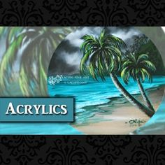 How to paint a beach and palm trees