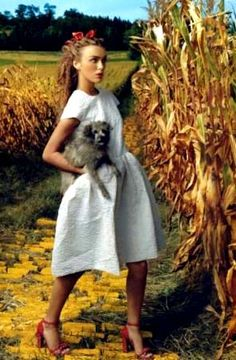 Keira Knightley by Annie Leibovitz in The Wizard of Oz for Vogue