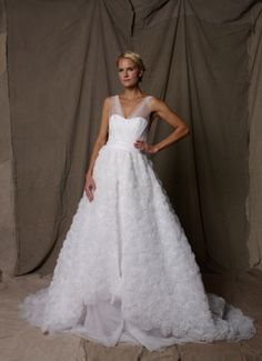 Lela Rose gown at Mark Ingram in NYC, a little frilly, but could be pretty