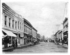 View of a Monterey street in San Luis Obispo, :: California Historical Society Collection, Commercial Street, Morro Bay, Central Coast, San Luis Obispo, Historical Society, Back In The Day, Santa Barbara, Camino Real, Street View