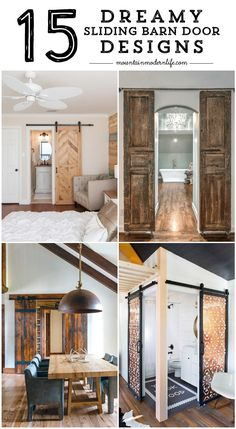 Do you find yourself obsessing over sliding barn doors and trying to figure out how to incorporate them into your own home? Check out these 15 Dreamy Sliding Barn Door Designs that are sure to inspire! MountainModernLife.com