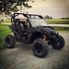 Can-am maverick plastidip utv side by side black and yellow