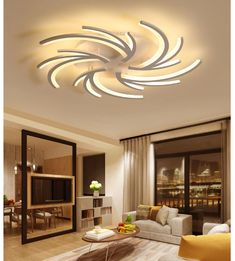 This modern ceiling light is something totally different and unique! This ceiling light will add a very modern and contemporary touch to any living room or bedroom. - Ceiling Lights - Ideas of Ceiling Lights Kitchen Lighting Fixtures, Modern Light Fixtures, Outdoor Light Fixtures, Ceiling Light Fixtures, Vintage Industrial Lighting, Unique Lighting, Task Lighting, Outdoor Lighting, Lighting Store