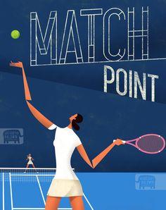 Match Point Tennis Poster