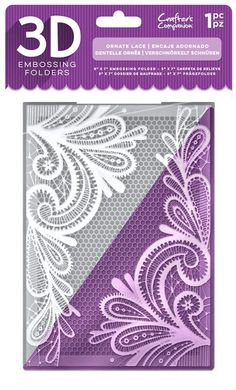 Crafter's Companion 3D Embossing Folder - Ornate Lace