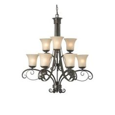 Hampton Bay Essex 9-Light Aged Black Chandelier 14706 at The Home Depot  Dining Room