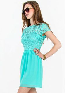 Mint Chiffon Skater Dress