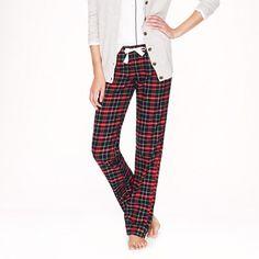 Pajama pant in navy plaid flannel - sleepwear - Women's 30% off present-perfect styles - J.Crew