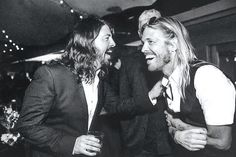 New pic**** dave grohl and Taylor Hawkins. My heart <3 Their love <3