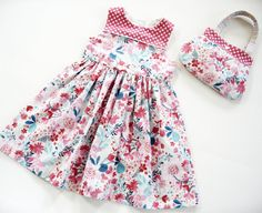 2T dress toddler outfit party dress and matching by LizzyBethLane