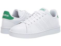 san francisco 2c568 dd300 ADIDAS ORIGINALS Advantage, FOOTWEAR WHITE FOOTWEAR WHITE GREEN.   adidasoriginals  shoes