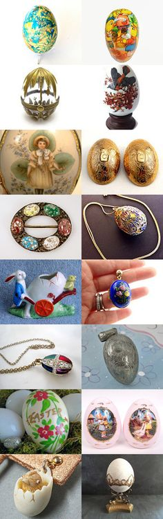 Eggs Collection #Voguet. A small selection of beautiful eggs from Vogueteam. Also featuring our Shop of the Day, retrogroovie. Curator: Fabien from https://www.etsy.com/shop/LeBonheurDuJour