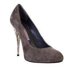 lorenzi gianmarco shoes, gianmarco lorenzi swarovski pumps on sale $210, gia lorenzi shoes, Gianmarco Lorenzi Suede Court Shoes