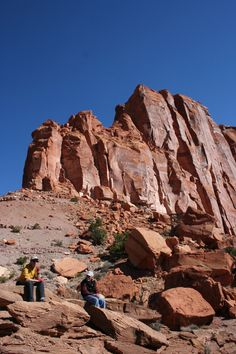 Hiking Spring Creek Canyon and Chimney Rock in Capitol Reef NP.